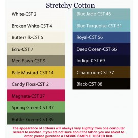 Stretchy Cotton Satin Fabric