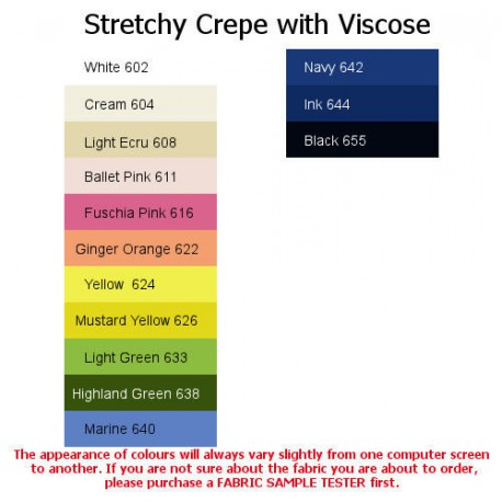 Stretchy Crepe with Viscose