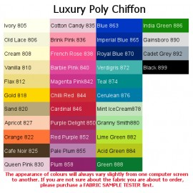 Luxury Poly Chiffon, Bridal Fabric