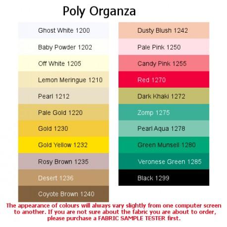 Luxury Poly Organza