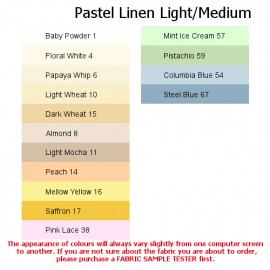 Light/Medium Linen Pastel Colours